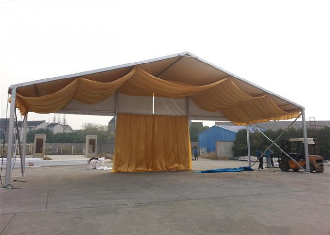 Double PVC Coated Catering White Marquee Tent With Decorations Clear Span