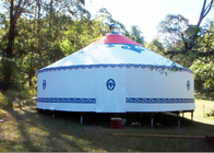 China Traditional Mongolian Canvas Yurt Tent , Easy To Assemble Mongolian Style Tents company