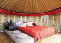China 21 Square Meters Mongolian Homes Yurts Tent For Living Waterproof Sun Proof company