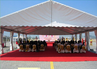 China 100 People PVC Aluminum Frame Structure Marquee Event Tent Fire Resistant company
