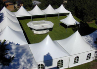 China Rainproof High Peak Tent With Decorations , Air Conditioned Tent For Wedding factory
