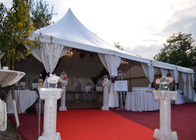 China Elegant High Peak Frame Tent Aluminum Structure Material Clear Span Design factory