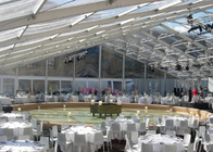 China Garden Wedding Marquee Tent With Transparent Roof 500 - 600 People Capcity factory