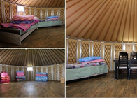China Multi Functional Mongolian Yurt Tent , Portable Family Camping Yurts Tents  factory