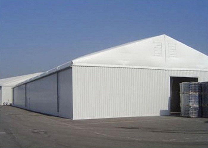 15x40m Canvas Steel Frame Industrial Storage Tents , Outdoor Warehouse Tents