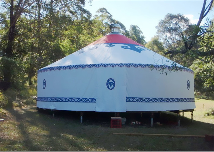 8m Diameter Mongolian Traditional Round Yurt Tent House Rainproof And Windproof