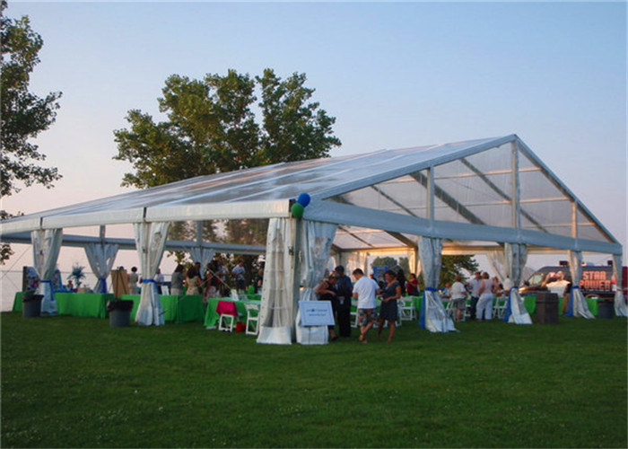 Beautiful PVC Coated Fabric Clear Roof Tent Outdoor Party Use With Decorations
