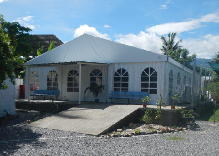 Removable Glass Wall Aluminum Frame Structure Tent For 100 - 1000 People