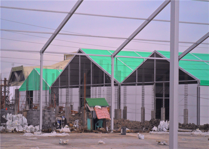 1000 Sqm Clear Span Industrial Warehouse Tent with Glass Walls for Outdoor Events