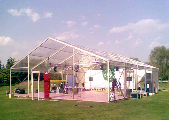 China 20x30m Steel Structure Material Clear Roof Tent Heavy Duty Sun Resistant factory