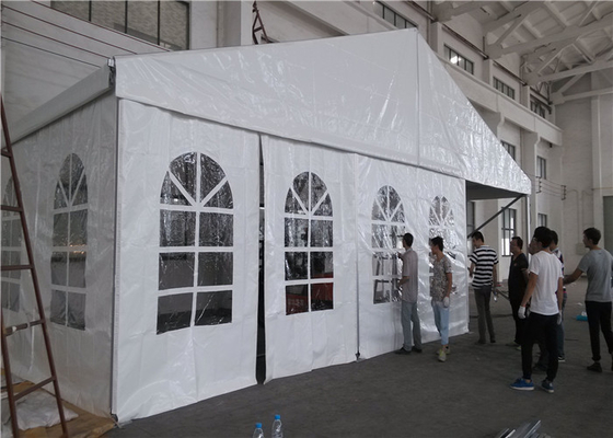 China Waterproof Big White Marquee Party Tent , Outdoor Wedding Marquee Tent factory