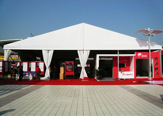 China Large Capacity White PVC Outdoor Party Canopy Tent , Outdoor Winter Wedding Tent factory