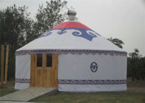 Luxury Waterproof Mongolian Yurt Tent Aluminum Frame Structural Heavy Duty
