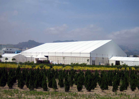 Clear Span White Canvas Large Canopy Tent For Exhibition / Industrial Storage