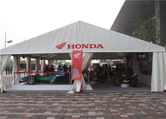 China Waterproof Giant A Frame Tent Trade Show Tents , Sand White Outdoor Exhibition Tents factory