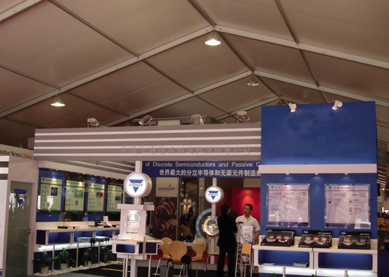 China 10x20m Heavy Duty Expo Trade Show Canopy Tents With Sides Clear Span Windproof factory