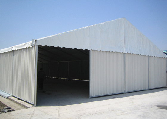 China Metal Sidewalls Industrial Warehouse / Storage Tents With Shutter Door factory