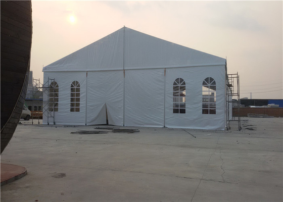 China 200 Seater White Small Wedding Marquee Party Tent , PVC Commercial Grade Marquee factory