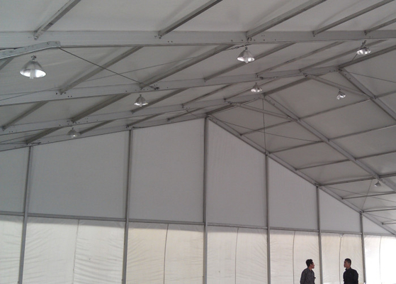 China Steel Structure Material Giant Marquee Outdoor Event Tent With White Fireproof Cover factory