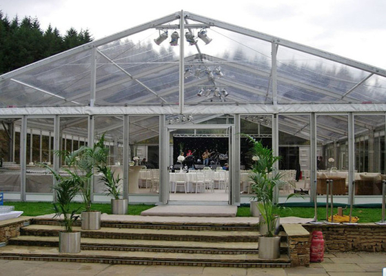 China Windproof Wedding Marquee Luxury Party Tents / Clear Span Tent factory
