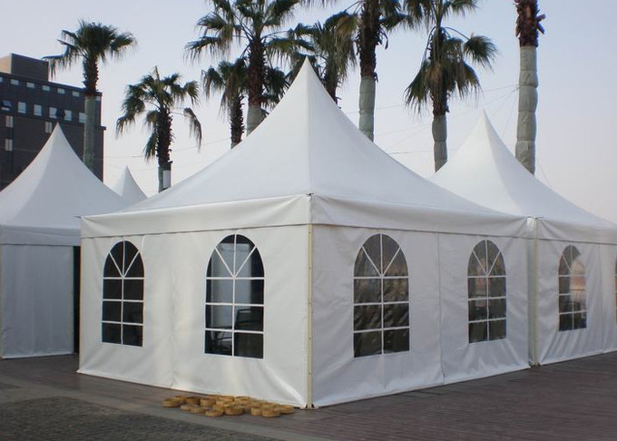 Double PVC Coated Fabric Elegant Garden Pagoda Party Tent For Wedding Reception