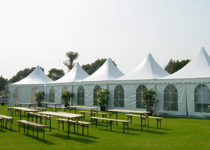Customized Size High Peak Pagoda Tent For Wedding Party / Exhibition Activities