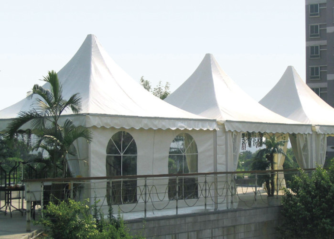 Small Beautiful Pagoda Outdoor Party Tent Long Life Span Flame Resistant
